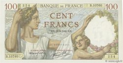 100 Francs SULLY FRANCE  1940 F.26.29 SPL