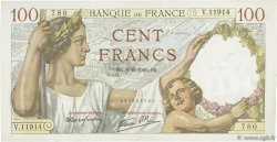 100 Francs SULLY FRANCE  1940 F.26.31 TTB+
