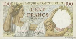 100 Francs SULLY FRANCE  1940 F.26.36 TTB+