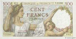 100 Francs SULLY FRANCE  1941 F.26.51 SUP+