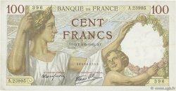 100 Francs SULLY FRANCE  1941 F.26.57 TTB+