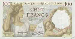 100 Francs SULLY FRANCE  1941 F.26.58 SPL