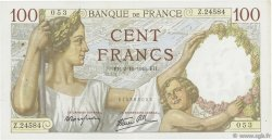 100 Francs SULLY FRANCE  1941 F.26.58 TTB+