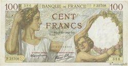 100 Francs SULLY FRANCE  1941 F.26.60 TTB