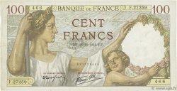 100 Francs SULLY FRANCE  1941 F.26.63 TTB
