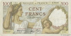 100 Francs SULLY FRANCE  1942 F.26.66 TB+