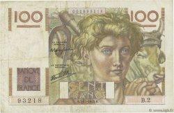100 Francs JEUNE PAYSAN FRANCE  1945 F.28.01 TB