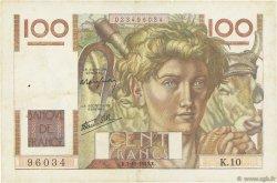 100 Francs JEUNE PAYSAN FRANCE  1945 F.28.01 TTB+