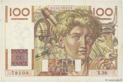 100 Francs JEUNE PAYSAN FRANCE  1946 F.28.03 TTB+