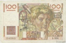 100 Francs JEUNE PAYSAN FRANCE  1946 F.28.09 TB