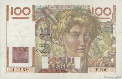 100 Francs JEUNE PAYSAN FRANCE  1947 F.28.14 TTB
