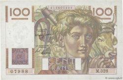 100 Francs JEUNE PAYSAN FRANCE  1949 F.28.23 pr.SUP