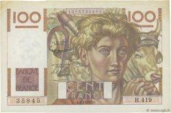100 Francs JEUNE PAYSAN FRANCE  1952 F.28.31 TTB