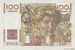 100 Francs JEUNE PAYSAN FRANCE  1952 F.28.32 TTB