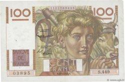 100 Francs JEUNE PAYSAN FRANCE  1952 F.28.32 TTB+