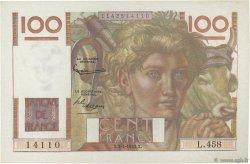 100 Francs JEUNE PAYSAN FRANCE  1952 F.28.32 pr.SPL