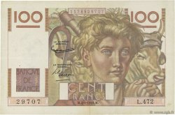 100 Francs JEUNE PAYSAN FRANCE  1952 F.28.33 TTB+