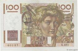 100 Francs JEUNE PAYSAN FRANCE  1952 F.28.33 NEUF