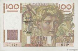 100 Francs JEUNE PAYSAN FRANCE  1953 F.28.35 SUP