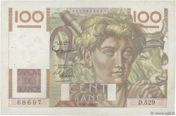 100 Francs JEUNE PAYSAN FRANCE  1953 F.28.35 pr.SUP