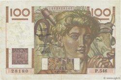 100 Francs JEUNE PAYSAN FRANCE  1953 F.28.37 TTB