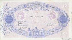 500 Francs BLEU ET ROSE FRANCE  1915 F.30.22 TB