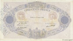 500 Francs BLEU ET ROSE FRANCE  1928 F.30.31 TB