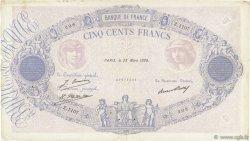 500 Francs BLEU ET ROSE FRANCE  1928 F.30.31 TB+