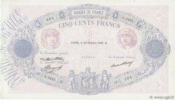 500 Francs BLEU ET ROSE FRANCE  1936 F.30.37 pr.SUP
