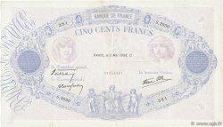500 Francs BLEU ET ROSE modifié FRANCE  1938 F.31.10 TB