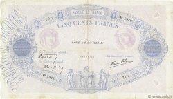 500 Francs BLEU ET ROSE modifié FRANCE  1938 F.31.14 TB