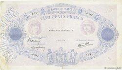 500 Francs BLEU ET ROSE modifié FRANCE  1938 F.31.18 TTB