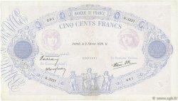 500 Francs BLEU ET ROSE modifié FRANCE  1939 F.31.25 TTB
