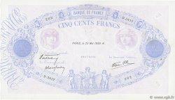 500 Francs BLEU ET ROSE modifié FRANCE  1939 F.31.33 TTB