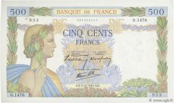 500 Francs LA PAIX FRANCE  1940 F.32.10 SUP