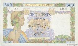 500 Francs LA PAIX FRANCE  1941 F.32.13 SUP