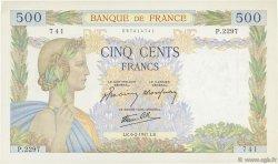 500 Francs LA PAIX FRANCE  1941 F.32.14 SUP