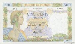 500 Francs LA PAIX FRANCE  1941 F.32.16 SUP