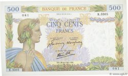 500 Francs LA PAIX FRANCE  1941 F.32.19 SPL