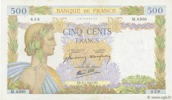 500 Francs LA PAIX FRANCE  1942 F.32.26 SUP