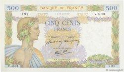 500 Francs LA PAIX FRANCE  1942 F.32.29 SUP
