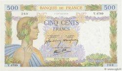 500 Francs LA PAIX FRANCE  1942 F.32.30 SPL