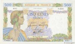 500 Francs LA PAIX FRANCE  1942 F.32.37 TTB
