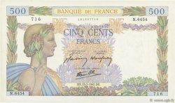 500 Francs LA PAIX FRANCE  1942 F.32.38 SUP