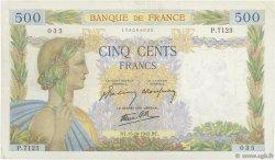 500 Francs LA PAIX FRANCE  1942 F.32.42 TTB+