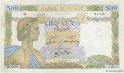 500 Francs LA PAIX FRANCE  1942 F.32.42 TTB