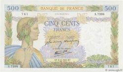500 Francs LA PAIX FRANCE  1942 F.32.43 TTB+
