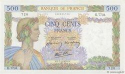 500 Francs LA PAIX FRANCE  1943 F.32.44 SPL+