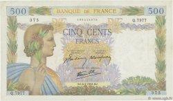 500 Francs LA PAIX FRANCE  1944 F.32.46 pr.SUP