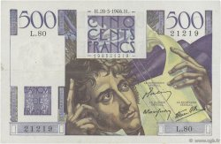 500 Francs CHATEAUBRIAND FRANCE  1946 F.34.05 TTB+